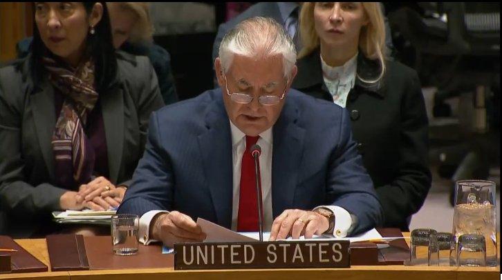 Рекс Тиллерсон:  у Вашингтона  нет  никакого желания   начинать   войну  с  Северной Кореей
