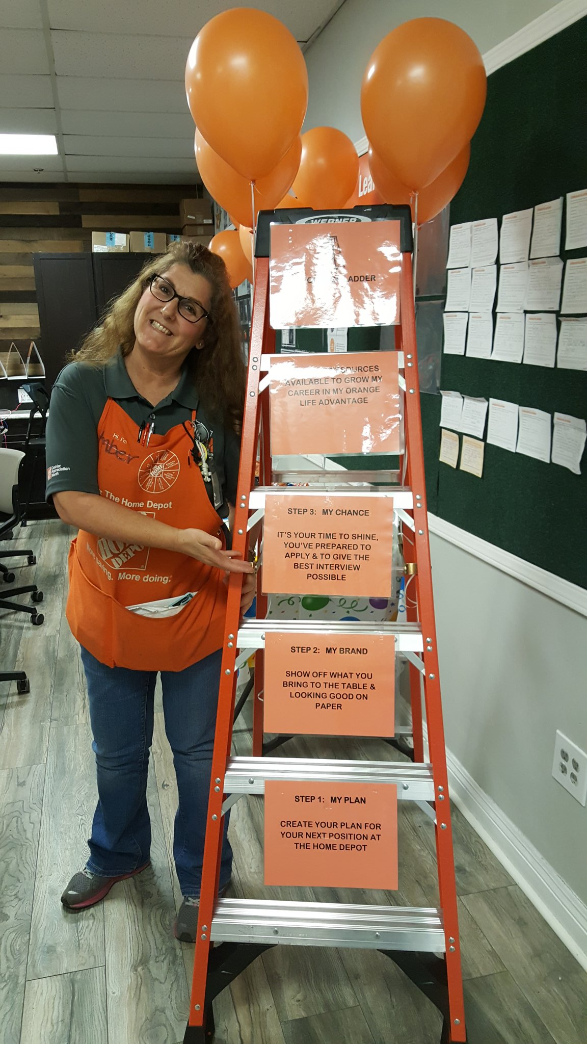 Valerie Schubert On Twitter Career Day At Slo Home Depot 1052 Move Up On My Orange Ladder