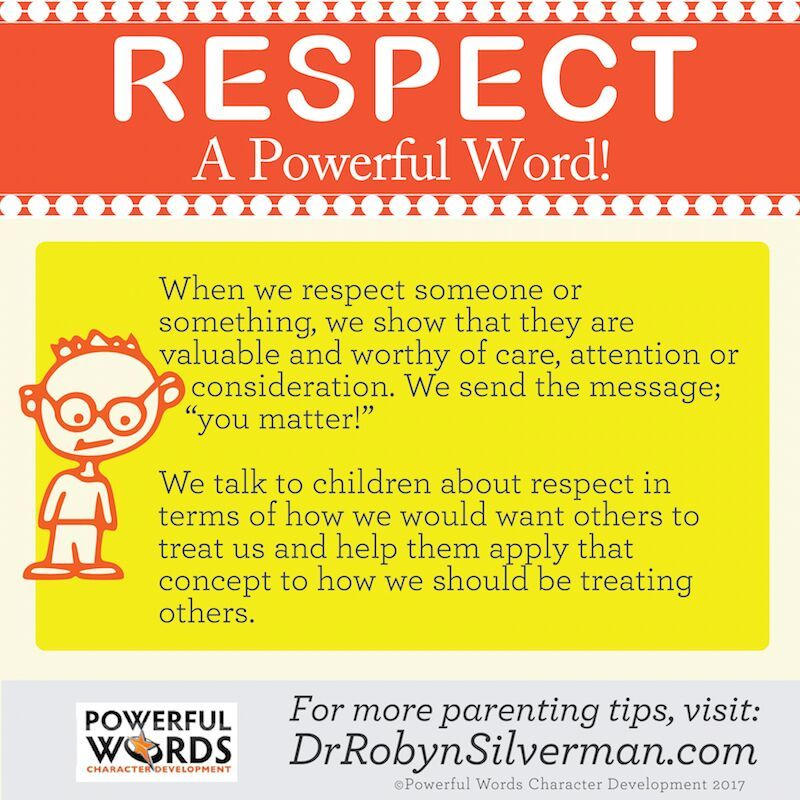 How do you model #Respect? #PowerfulWords