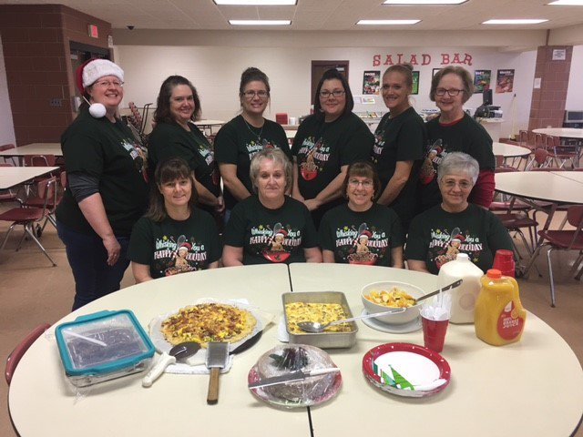 Our awesome lunch ladies being treated t...