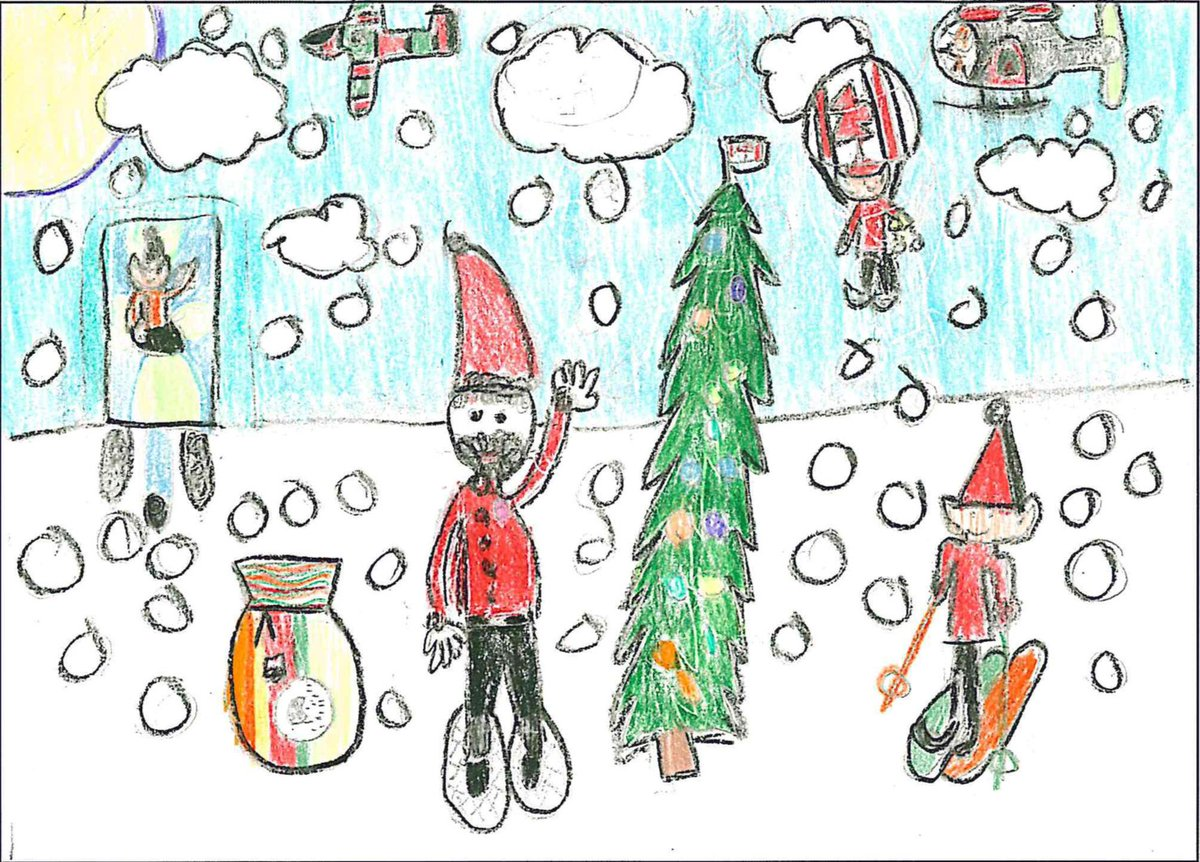 Canadian forces on twitter heres another wonderful submission the holiday card greeting contest thank you silka for your artwork to see all of the submissions visit httpsml fdf facensectionml fd m4hsunfo