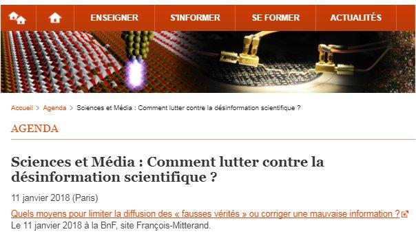 Sciences et Média : Comment lutter contre la désinformation scientifique ?  http:// bit.ly/202bnDO     #EMI #EMC #sciences @laBnF Agenda portail #physique #chimie @eduscolpic.twitter.com/gMJkoHgV6u