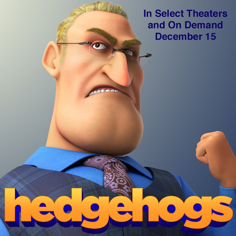 tweeters, check me out in HEDGEHOGS, in select theaters and on demand today! youtube.com/watch?v=fi1BPe…
