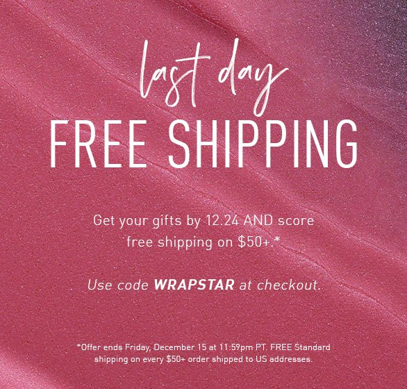 Morphe On Twitter It S Time To Wrap It Up Morphebabes It S Your Last Chance To Get Your Orders Delivered By 12 24 And Get Free Shipping On Orders Over 50 Click The 1% cash back for online. morphe on twitter it s time to wrap