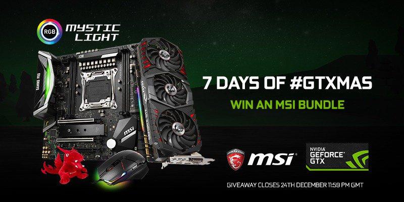 #GTXmas Day 2 Giveaway! WIN an epic MSI Bundle! Includes: GTX 1080 Ti, Z299M GAMING PRO CARBON AC, Clutch GM60 Gaming Mouse, Aluminium Mousepad & an MSI Lucky Plush! To enter: ➡️Follow @MSI__UK ➡️Follow @NVIDIAGeForceUK ➡️RT this tweet 💚