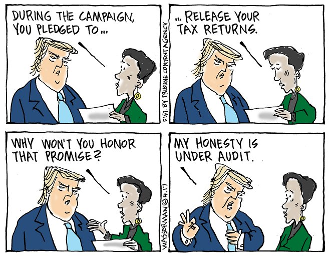 Editorial cartoon by Dan Wasserman #Donald #Trump #DonaldTrump #Taxes<br>http://pic.twitter.com/YTLxlurH6w