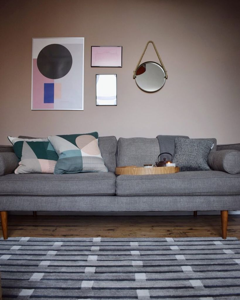 Walls are painted Dead Salmon by  farrowandball to perfectly match with my  new  westelmuk Monroe sofa and  eleanorpritchardstudio for  case furniture  Purlin. Case Furniture   Case Furniture    Twitter