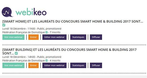 Participez aux 2 webinars consacrés aux lauréats du concours Smart Home & Building lundi 18/12 @FFDomotique @SBA_France #SmartBuilding @ConnectiBat44 #SmartHome @DomoPadX pic.twitter.com/1LTFwAw7P9