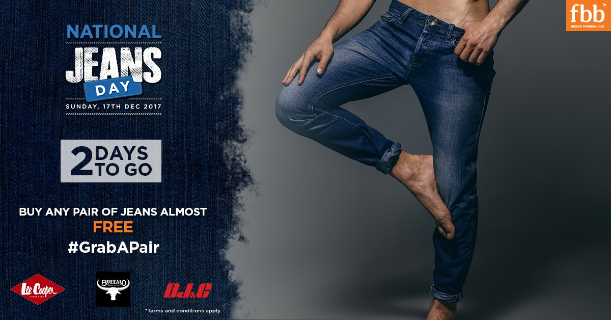 3905a411b0c9 Celebrate  NationalJeansDay with fbb and grab your favourite pair of jeans  almost free! Register here  http   goo.gl oGqQiE  FuturePayIndia  TnC  Apply  ...