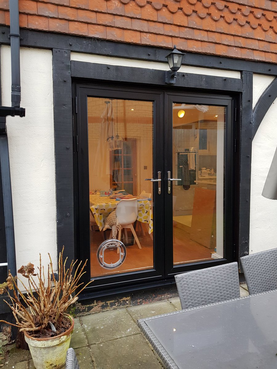 Black French Doors T