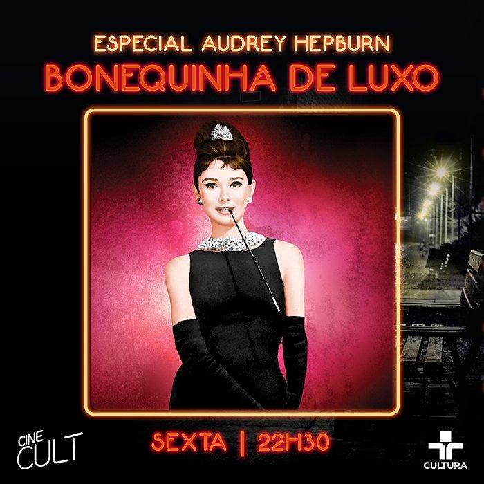 Para abrir a série de clássicos estrelados por Audrey Hepburn, o Cine Cult exibe 'Bonequinha de Luxo', o filme que mais marcou a carreira da atriz.   É daqui a pouco, às 22h30!