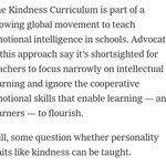 .@danielpink: The effects of teaching kindness to schoolchildren: - Increased altruism and willingness to share with others, - Strengthened ability to focus,  - Modest boost to academic performance. via @nytimes  https://t.co/8aGBkHLBes #Education #EmotionalIntelligence