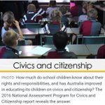 A new report has found that about two-thirds of Year 10 students do not have the basic knowledge required to become informed and active citizens in Australia's democracy https://t.co/gmaNu3HYTa #education #citizenship