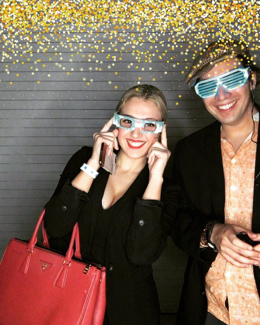Another photo from last night of Harrison Gross, cofounder &amp; Mariam Mikava, Marketing Communications Coordinator at Miami made holiday networking party. We met Miami's top founders &amp; most influential #entrepreneurs &amp; also gave away bonus 50 $LCD &amp; 5% referral link to the guests! <br>http://pic.twitter.com/zXvuU0H3DI
