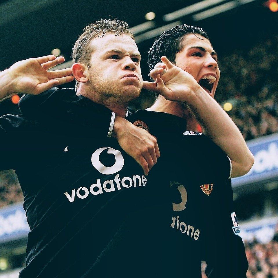 Que dupla o United tinha. @waynerooney e @cristiano,  😈