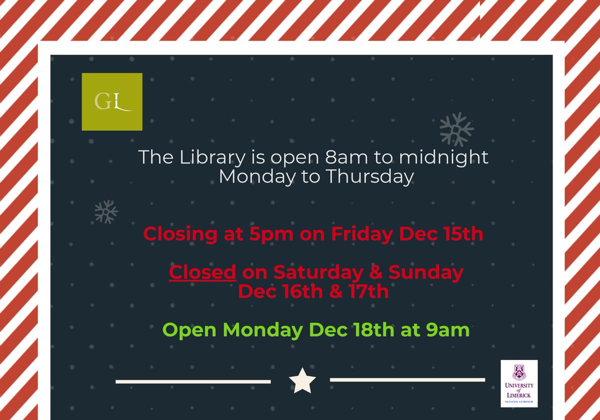 We are closed this weekend, opening agai...