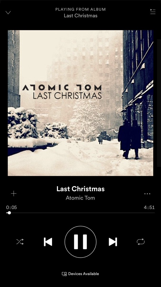 atomic tom on twitter now streaming on spotify last christmas add us to your holiday playlist httpstcoe53dpvlsxb