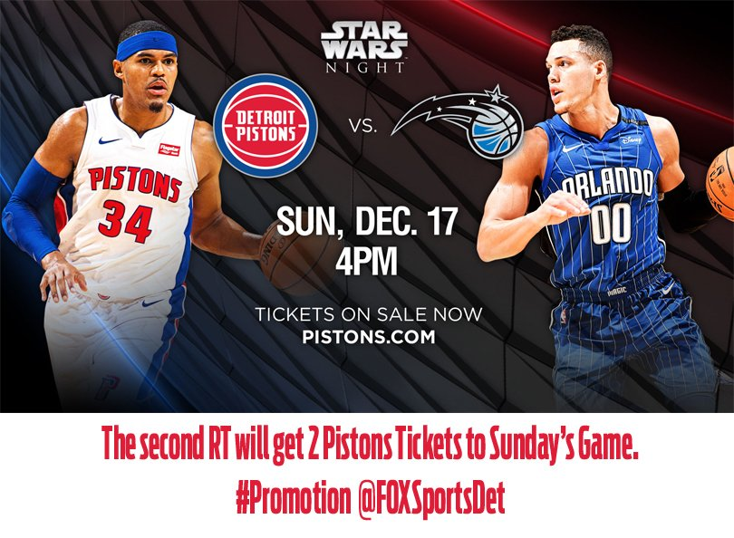 The second RT will get 2 tickets to Sunday's Game. #Promotion  @FOXSportsDet<br>http://pic.twitter.com/Jh1r9ETTuf