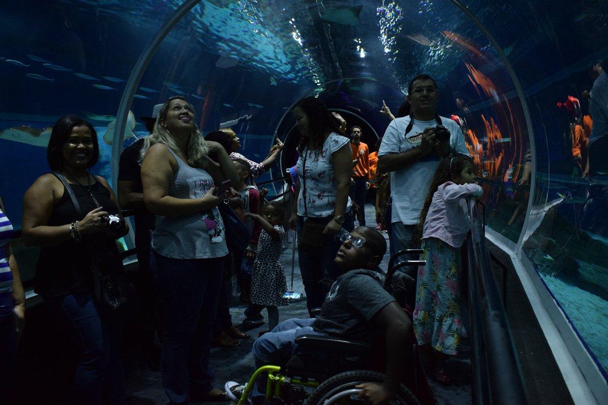 #AconteceuNaSaúde | Passeio no maior aquário marinho da América do Sul! Crianças tratadas no Into conhecem o fundo do mar. Veja: https://t.co/gwxDPrC03A