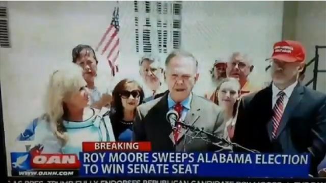 WATCH: Pro-Trump news outlet tells viewers Moore won Senate election https://t.co/VheZBcompD