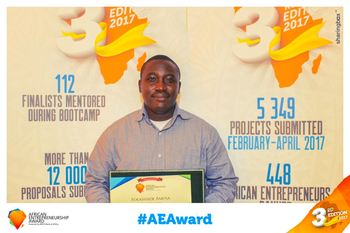We celebrate our Co-Founders @chemistvictor @AmusaFolashade for their doggedness &amp; tenacity, Our Team Members @aderayD &amp; Bolaji Ibrahim alongside every volunteer of @vicfoldrecycler, they have successfully placed #Ilorin, #Kwara State #Nigeria on the global map #AEAwards2017<br>http://pic.twitter.com/6hX5zoOvsJ