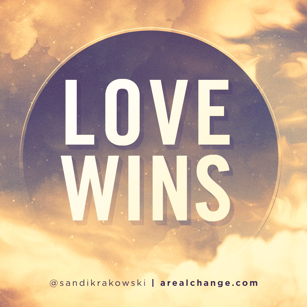Love always wins in the end! #LoveWins #LoveIsTheAnswer #FridayInspiration