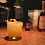 Iron Orchid - Scotch / @oddsocietyspirits Bittersweet Vermouth / Dark Roast Iron Buddha Oolong Tea /lemon / @bittered_sling Plum & Rootbeer bitters. #vancitydrinks