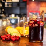 Mulled Wine Weekend! Cranberry, apples, mandarin, @JackDaniels_US and spices - $9. Warm up at @thecascaderoom. #vancitydrinks