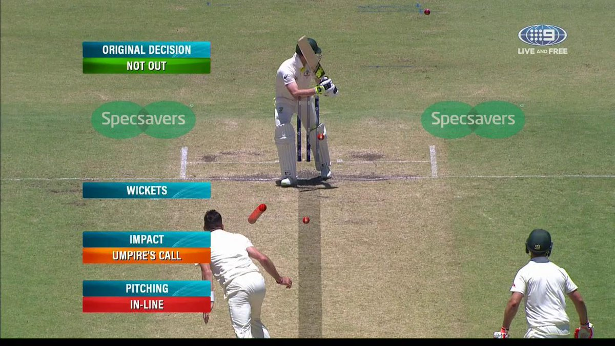 NOT OUT! The original decision stands with Steve Smith remaining at the crease. AUS 4/291 #Ashes