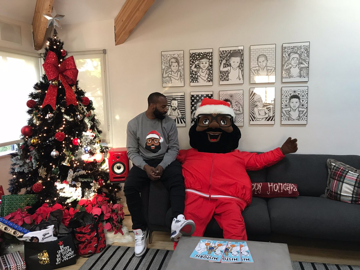 baron davis on twitter thanks to my people over at treetopia im giving away 3 black christmas trees to win you must follow theblacksantaco and - Red Baron Christmas Song