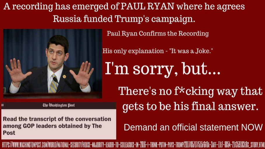 Hey @SpeakerRyan,  Seriously....this isn&#39;t going away. - #America <br>http://pic.twitter.com/oeQB4TUohn