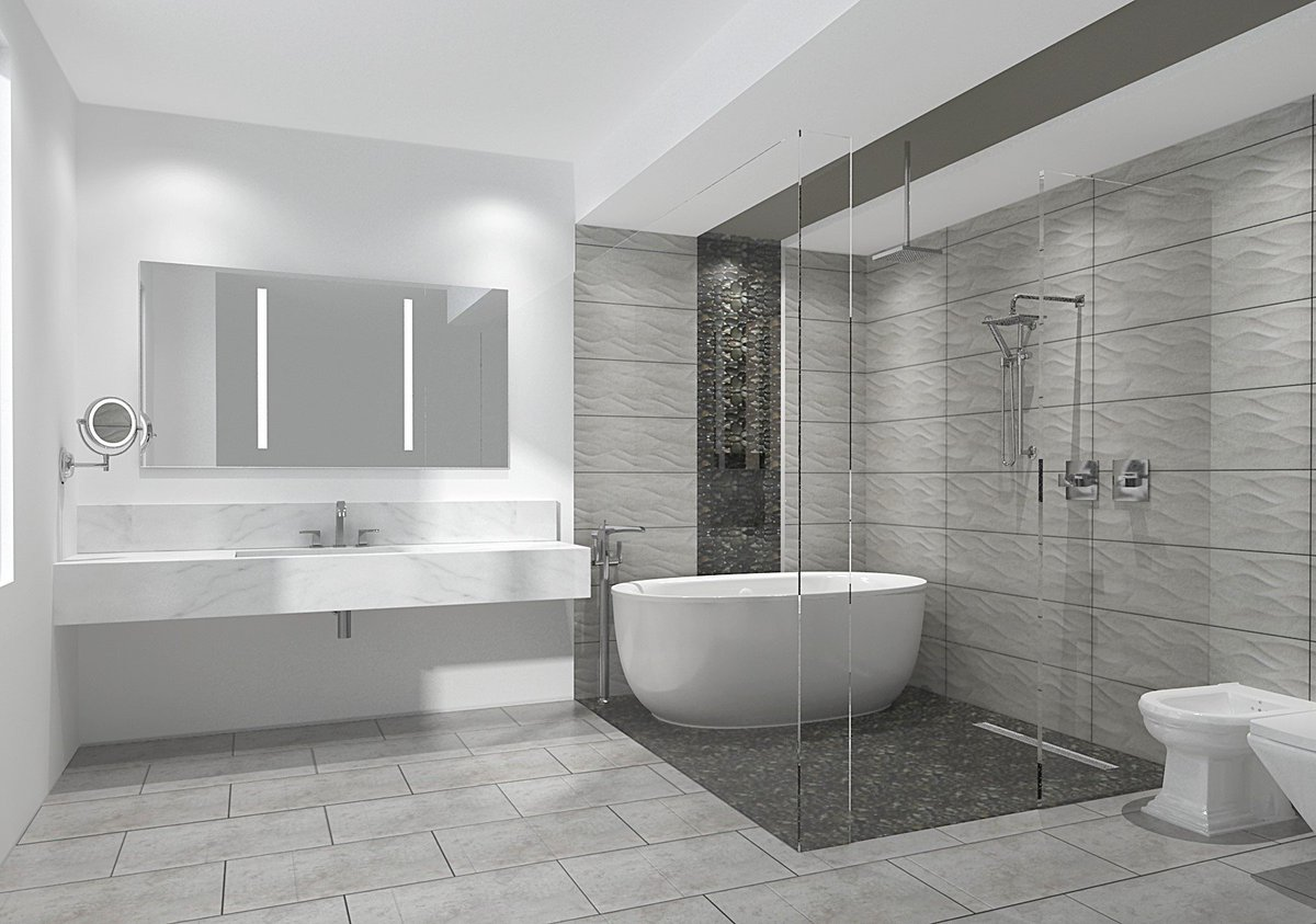 bathroom design center 3. Here Is What You Can Expect From One Of Our Design Packages! . #renovations #interiordesign #design #home #house #bathroom #modern #render #marble Bathroom Center 3