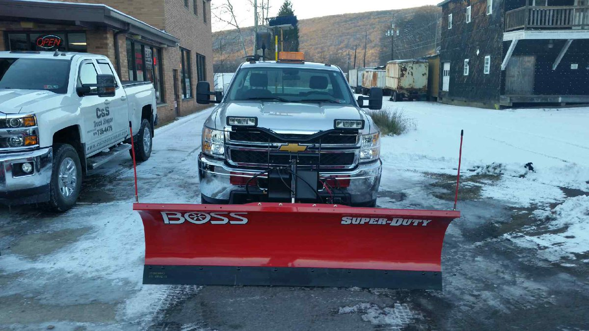 On This 2017 Chevy 3500 Series Service Truck For Mountaintop Jt Sanitary Authority Boss Bossplow Snow Snowplowing Landscaping Plow Plowlife