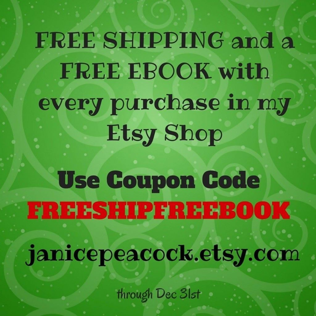 Janice peacock janpeac twitter free shipping and a free ebook with coupon code freeshipfreebook in my etsy store through the end of the year httpjanicepeacocksy freeshipping fandeluxe Choice Image