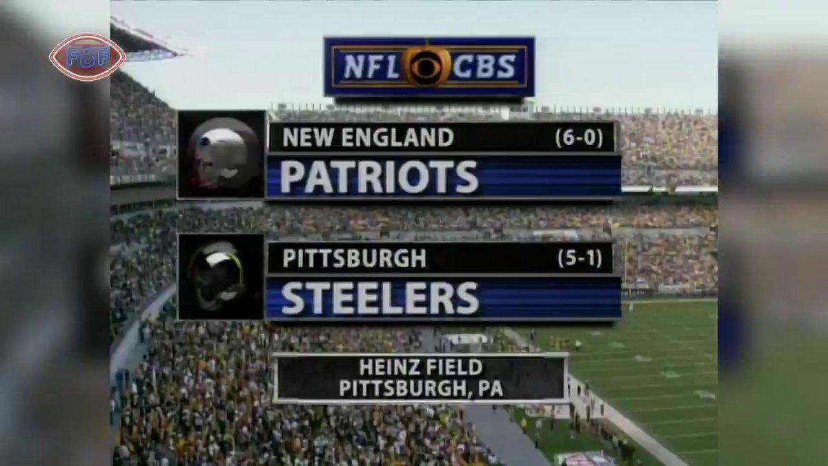 October 31, 2004.  The first showdown of Ben 🆚 Brady.  #SteelersHistory #fbf