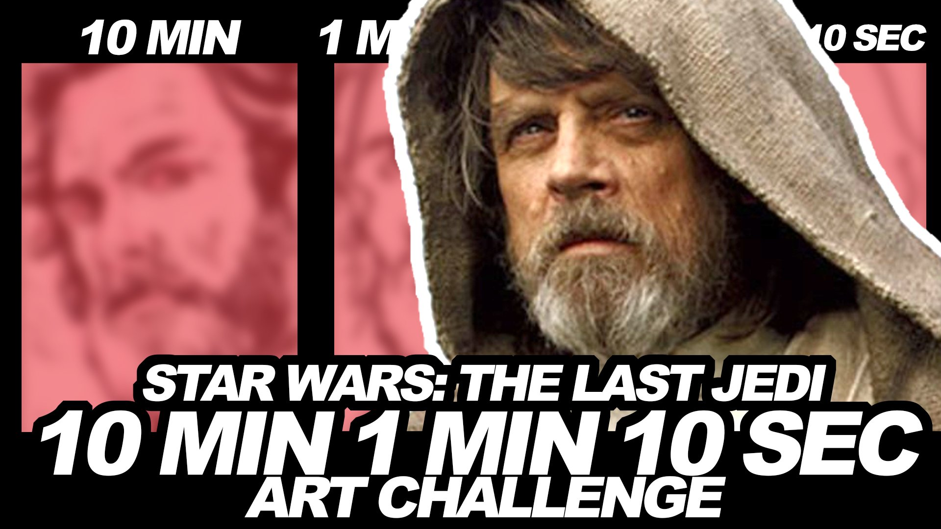 James Raiz On Twitter Drawing My Hero Hamillhimself In Honor Of Starwars Thelastjedi As Lukeskywalker In The 10 Minute 1 Minute And 10 Second Art Challenge You Can Watch It Here