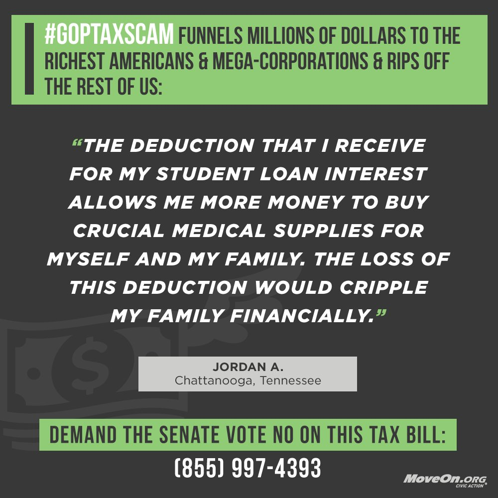 This is how the @GOP #TaxScamBill will impact Jordan in #TN. Congress: vote NO & #ProtectWorkingFamilies