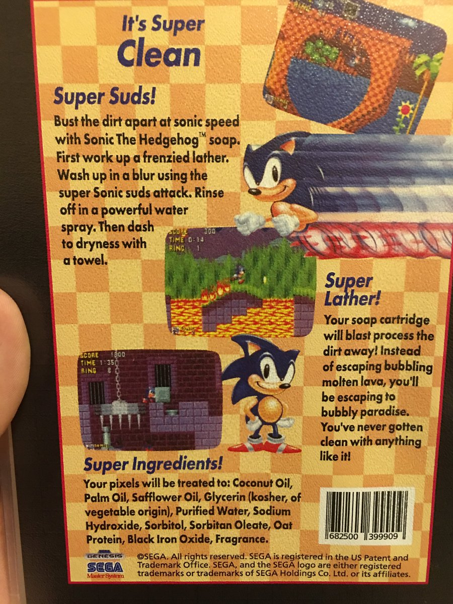 Tanooki Joe On Twitter Check It Out The One On The Left Is Soap Yes Soap I Bought Sonic Soap And The Bar Is In The Shape Of The Genesis Cart Https T Co Tbw9ka8pfb