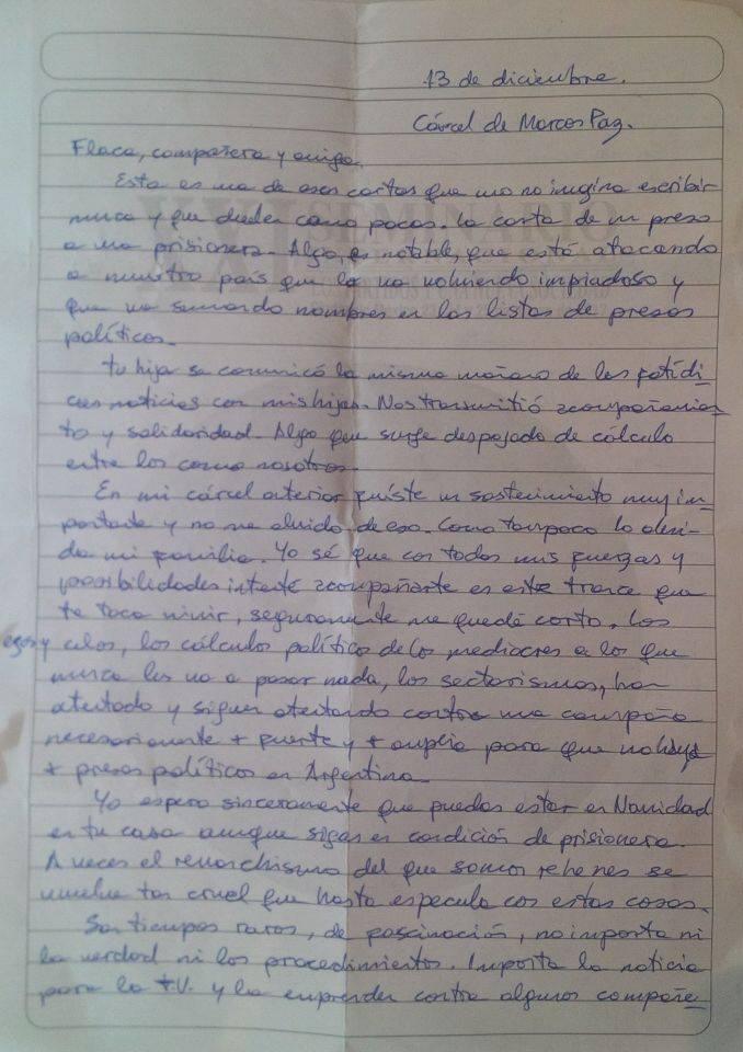 RT @estechefernando: Carta de Fernando Esteche a Milagro Sala. https://t.co/LbxmuIcS1u https://t.co/FmohGAQ9dE