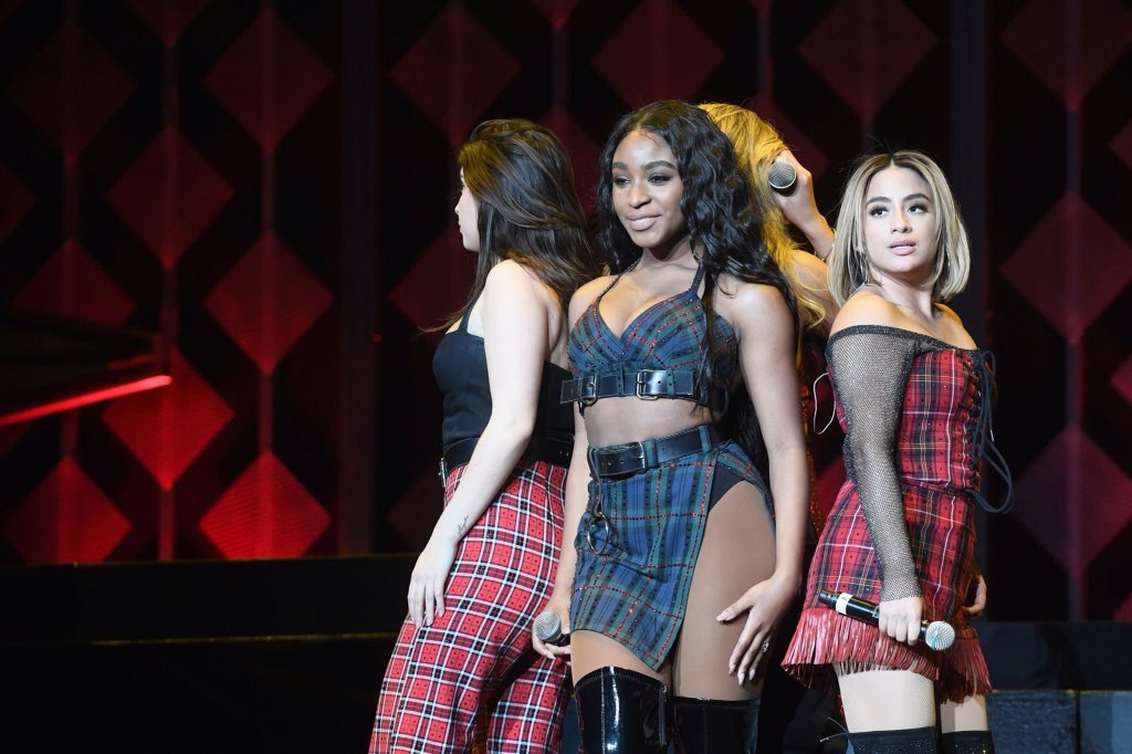 Fifth Harmony on stage at #JingleBallATL...