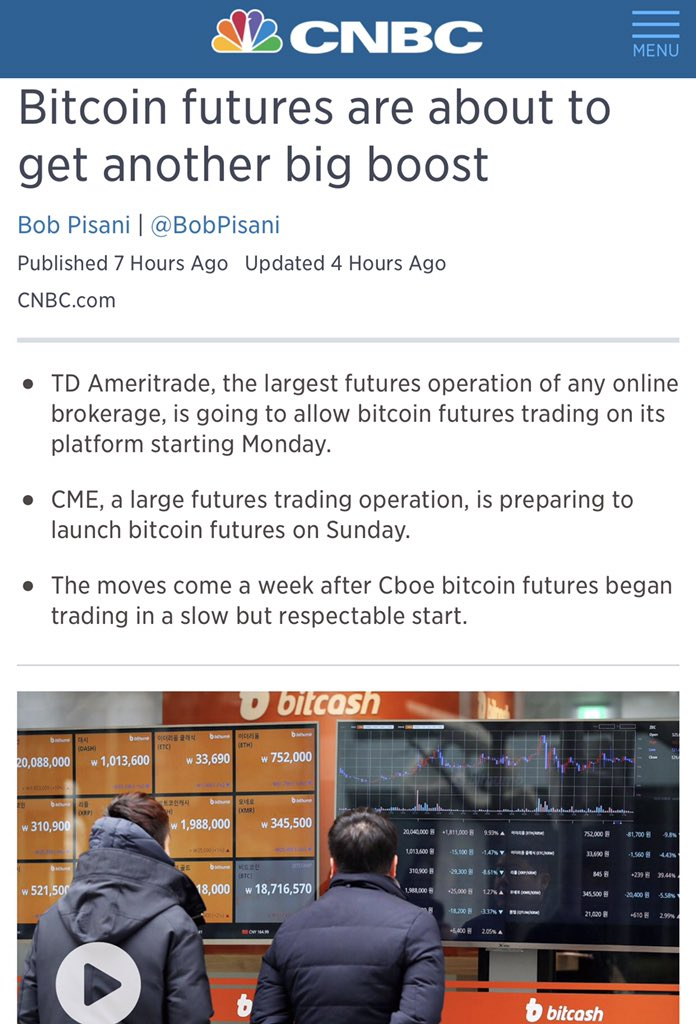 Peter sin guili on twitter bitcoin super bull another great td ameritrade to allow bitcoin btc bitcoinfutures futures trading coming monday ccuart Choice Image