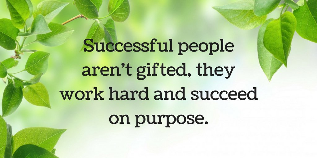 Successful people aren't gifted, they work hard and succeed on purpose.  #Motivation #Inspiration #Success https://t.co/j4YEpYpVr9
