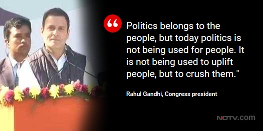 @OfficeOfRG @INCIndia  @OfficeOfRG. speaks after taking over as Congress president.   Track LIVE updateshttps://t.co/q7gMZJk6Hh:  https://t.co/lcRdQ1TH