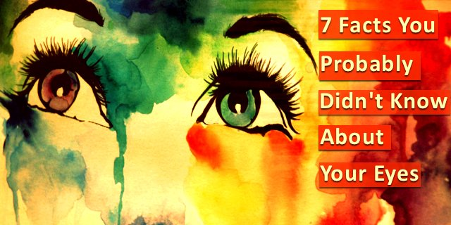 """""""Eyes that do not cry, do not see."""" ~Proverb  So True...Do you know about eyes? Here are 7 facts you may not know https://t.co/u9HFFLg8aG"""