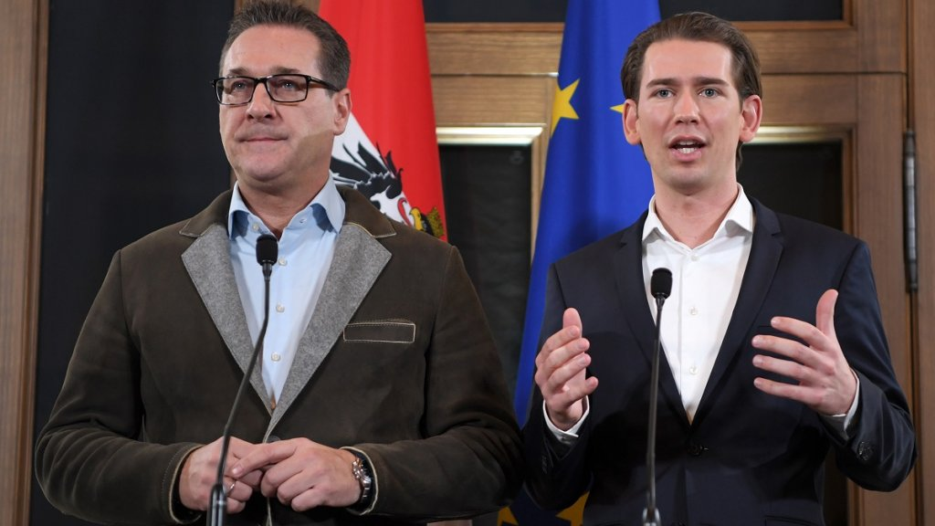 Austria's conservative leader strikes deal to bring far right into government https://t.co/gwHoD0RWsf