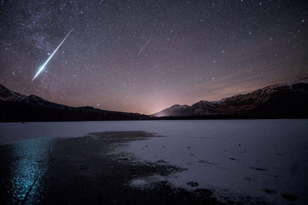 #Space: #Geminid #Meteors - Jasper National Park, Alberta, #Canada. #GoodMorning! https://t.co/04sLjSSs3f by PROJack Fusco