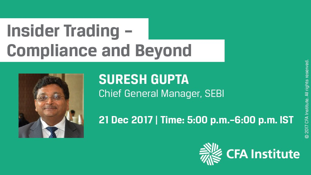 WEBINAR: Practitioner Insights from India: Insider Trading – Compliance and Beyond , 21 Dec, 5:00 pm IST https://t.co/tRPvEVRkDY