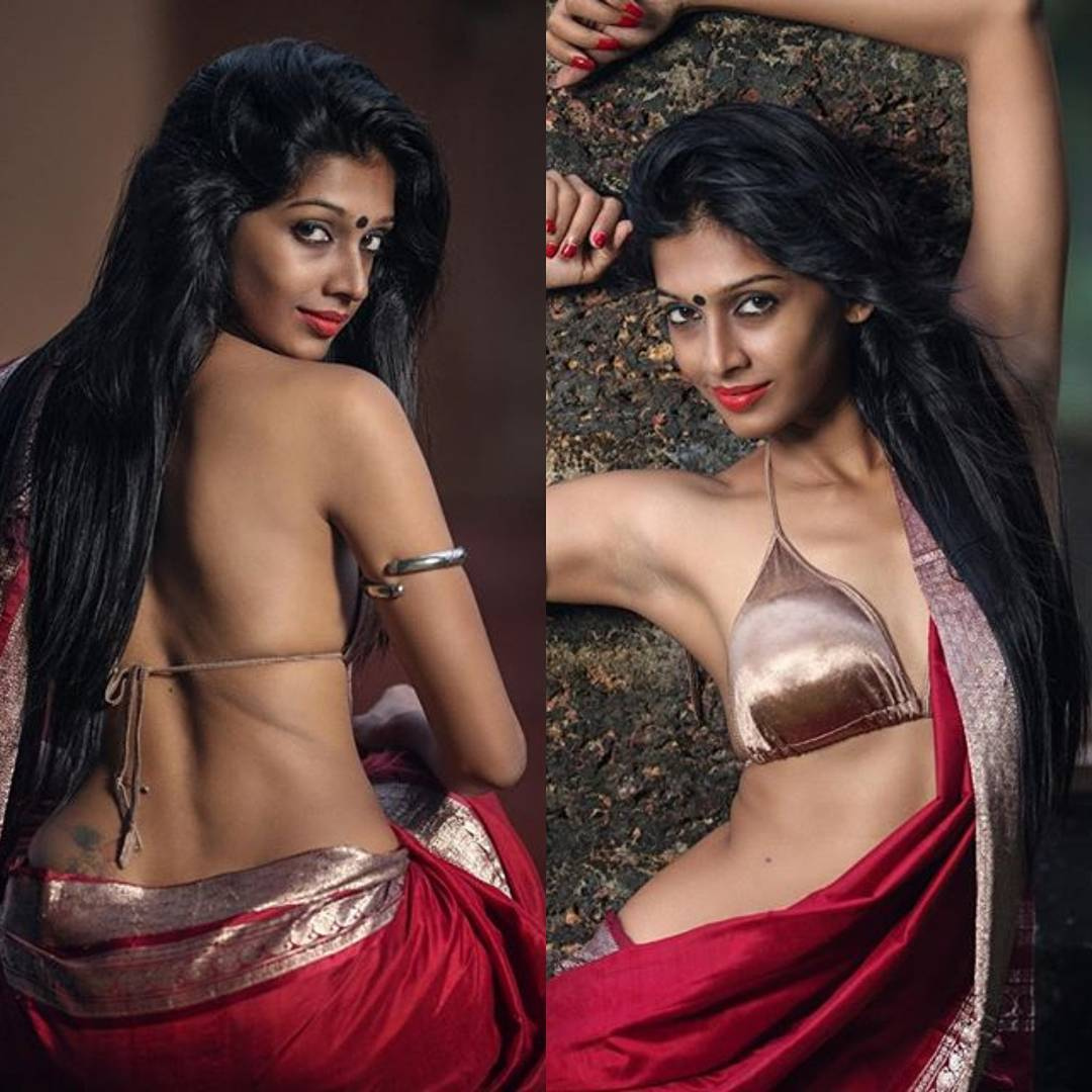 Newly Married Indian Bhabhi And House Wife Stripping Saree Blouse