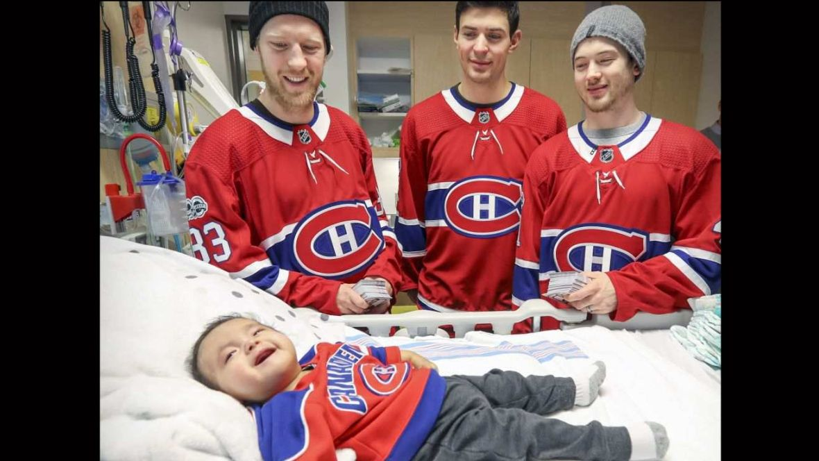 9-month-old gets bedside visit from Montreal Canadiens players https://t.co/sQ0LDlIC7f