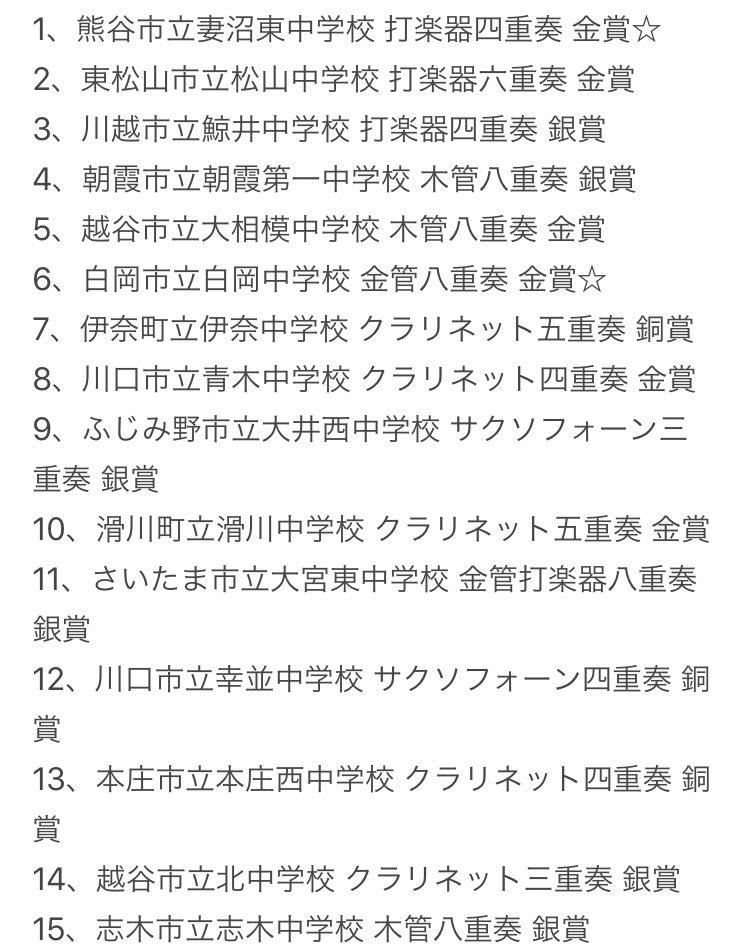 アンサンブル コンテスト 2020 埼玉